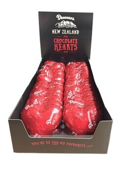 Red Foil Milk Chocolate Heart 25g