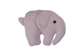 Stripped Elephant Squeaker Rattle - Pink