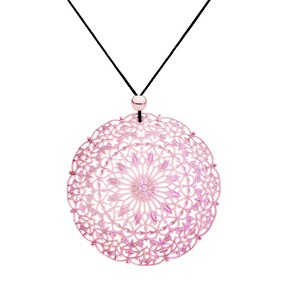 Lacey Circle Necklace - Rose Gold