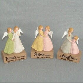 Angel Pairs with Sayings 11cm
