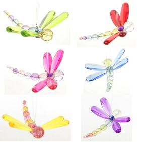Hanging Beaded Dragonfly