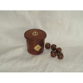 Wooden Dice Set in Tub