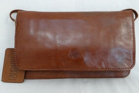 Small Multi Compartment Shoulder Bag - Tan
