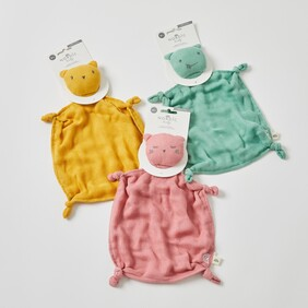 Double Muslin Soother Assorted Colours