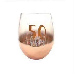50th Ombre Stemless Wine Glass