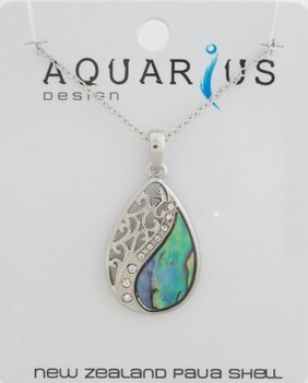 Mitre Floating Paua Necklace