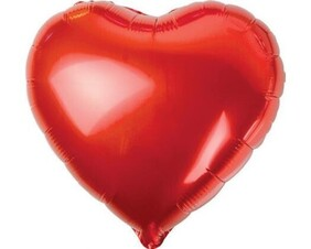 Red Heart Foil Balloon (Filled)