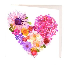 Floral Heart Gift Card