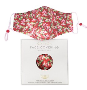 Willow & Rose Face Mask - Coral