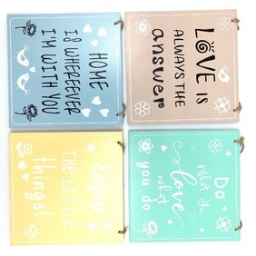 Wooden Square Inspiration Sign