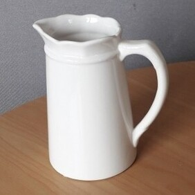 White Tall Tapered Jug Sml 14cm